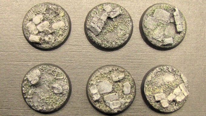 25mm Ruined City Bases
