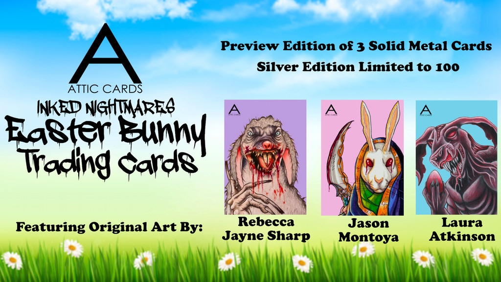 Attic Cards Inked Nightmares: Easter Bunny Preview- Make 100