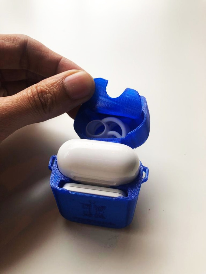 Silicone PodPouch - Blue showing double-lid