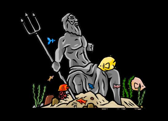 the sea god statue .... :D