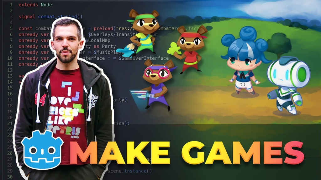 Create your Own Games with Godot, the Free Game Engine project video thumbnail