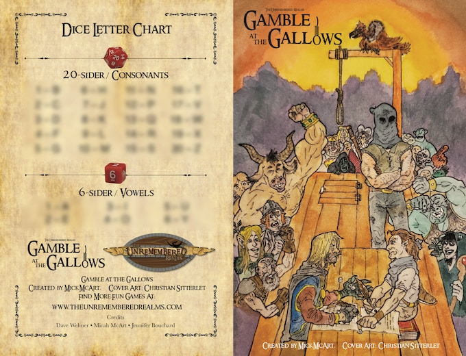 Front and back of rules