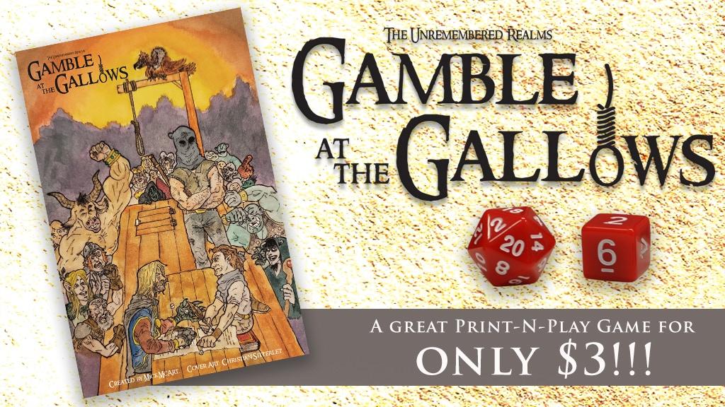 Gamble at the Gallows project video thumbnail