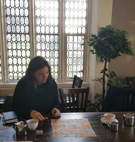 Ann Jones, Cards or Die, UK - Playing Wordopolis. (credit: Ann Jones)