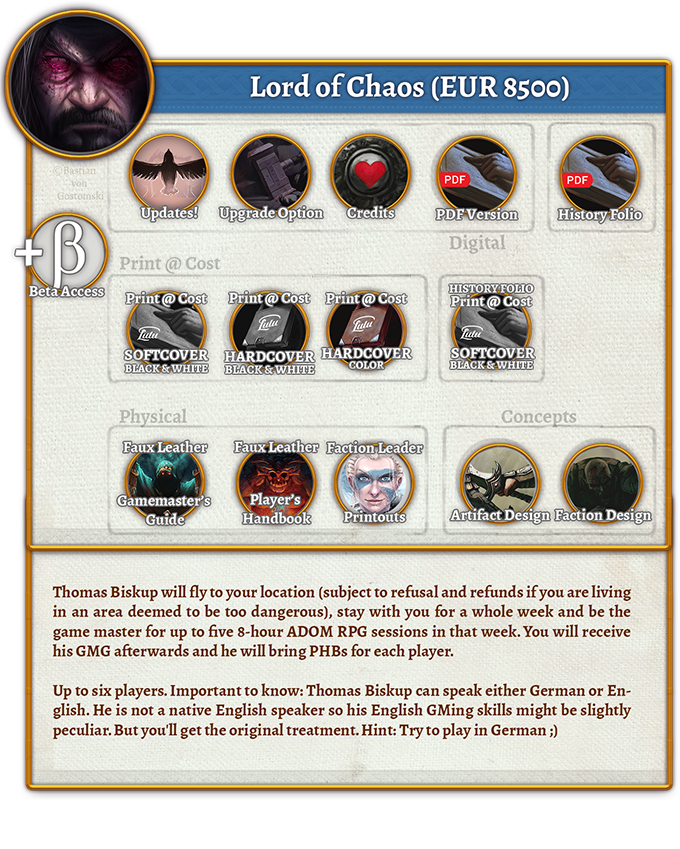 Lord of Chaos Rewards (8.500 EUR)