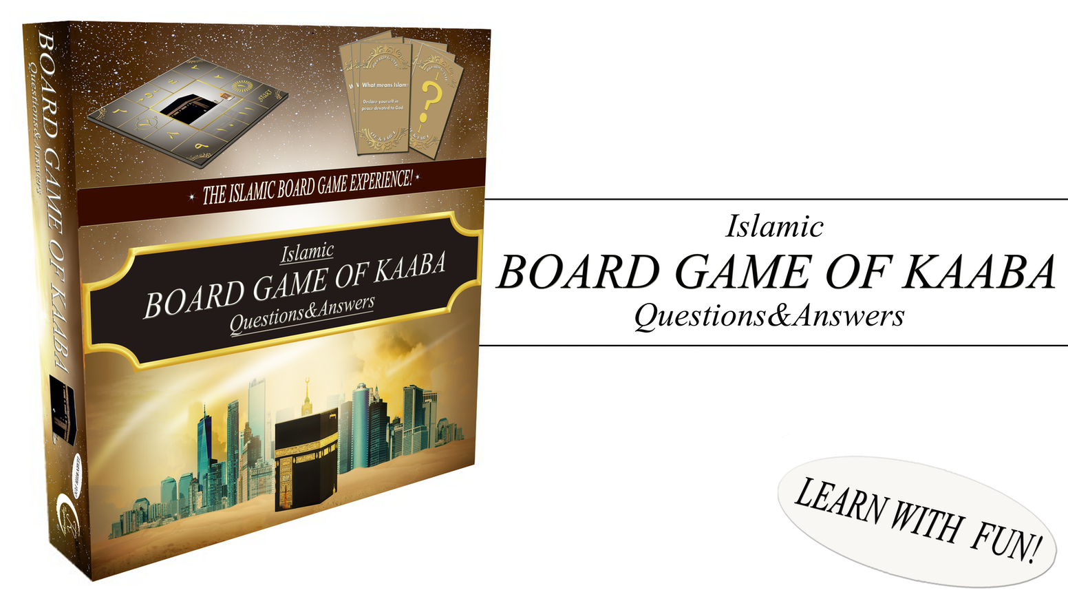 The islamic board game experience! Learn more about islam with fun with your family and friends!