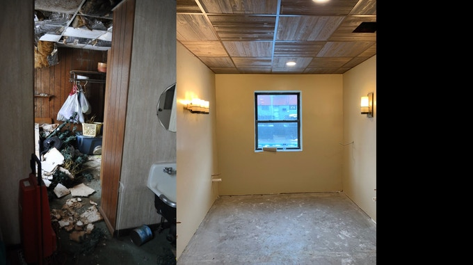 Bathroom Before and Current