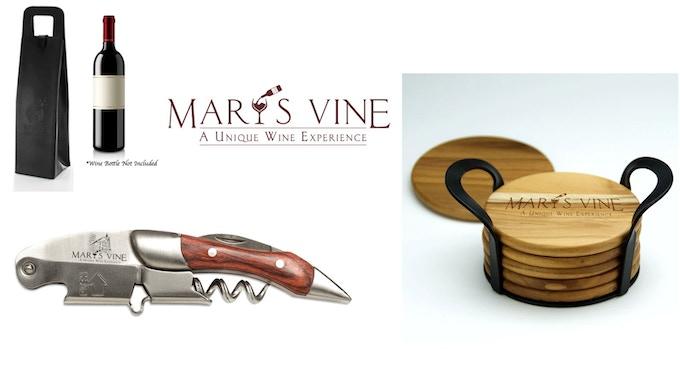 Wine Tote, Wine Key and Coaster Set