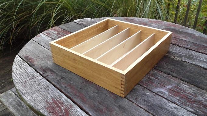 Fingerjoint box created using parametric design