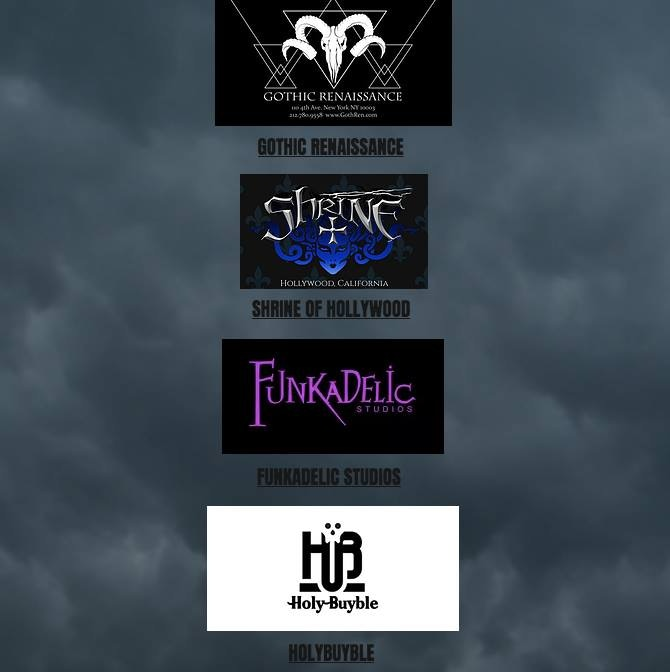 Our Partners - Gothic Renaissance - Shrine Hollywood - Funkadelic Studios & Holy Buyable