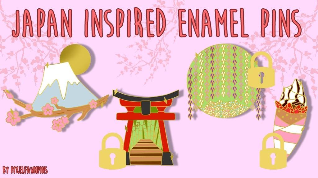 Japan Inspired Enamel Pins