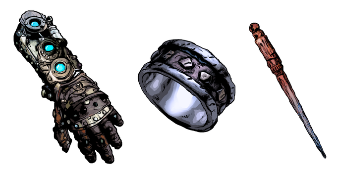 Some examples of Rick Hershey's art. Other examples can be found throughout the campaign page.