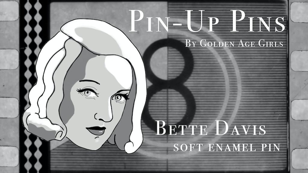 Bette Davis soft enamel pin