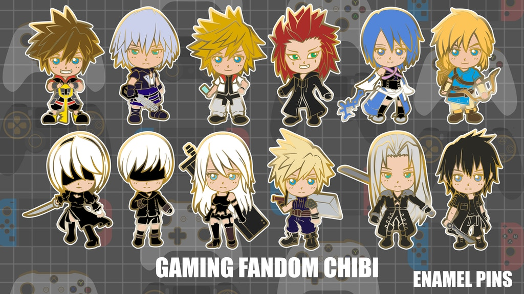 Gaming Fandom Chibi Enamel Pins