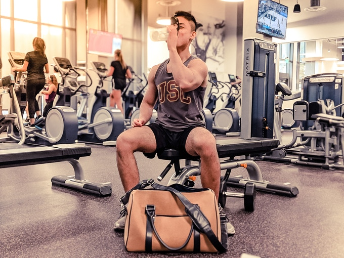Perfect bag for workout clothes and fitness accessories