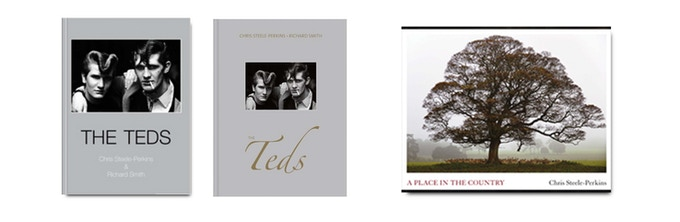 The Teds (1st and 2nd edition), and A Place In The Country, published by ©Dewi Lewis, photographs ©Chris Steele-Perkins