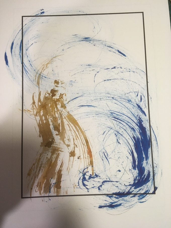 random ink marks with the thumbnail in mind