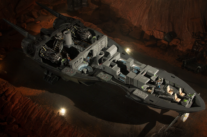 Each ship comes detailed inside and out (Scout ship standard interior shown here)