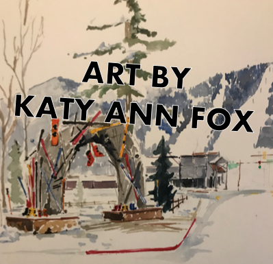 "The cover illustration for ""I Can Ski Forever: The Book"" by local artist Katy Ann Fox"