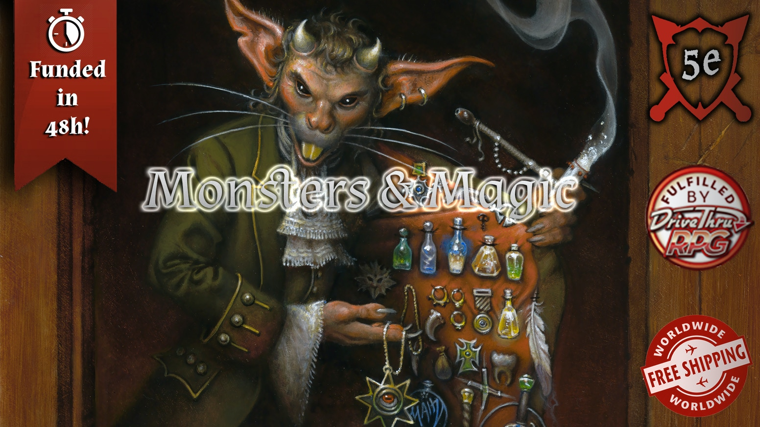 Monsters & Magic: a 5e bestiary and treasury by Windmill Slam Games