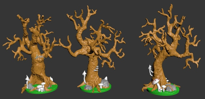 I've gone all out with extra details on the stretch goal trees!