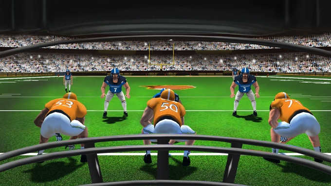 Experience the game up close and personal. Be the Quarterback each and every down!