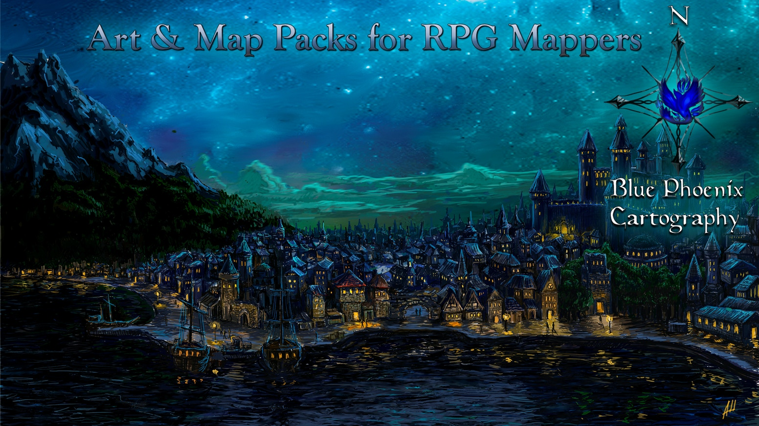 Waterdeep: Dragonheist D&D RPG Maps and Art Packs  by Daniel