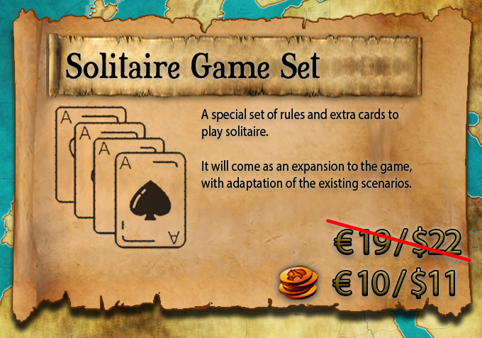 NOTE: The Solitaire Game Set will be shipped separately than the main game at a later time.