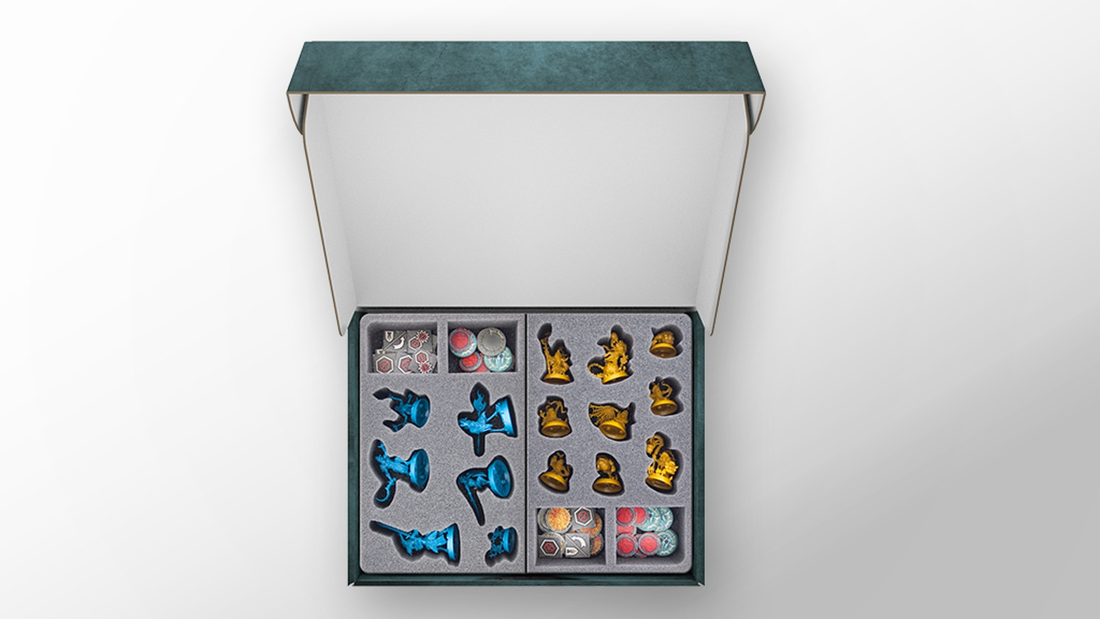 Protect, store and casually transport tabletop miniatures. We created an easy way to bring your Nightvault miniatures to safety.