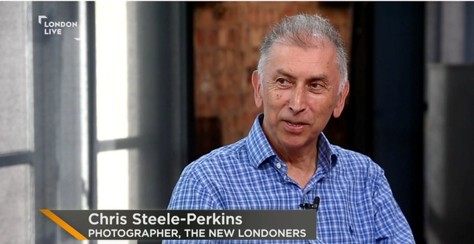 Chris Steele-Perkins in London Live News talking about The New Londoners, 18 June 2017