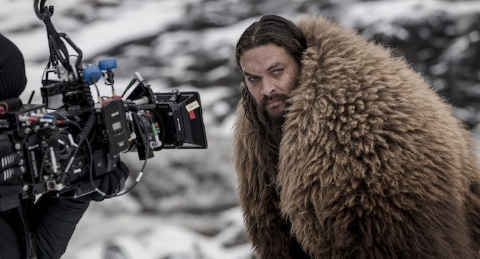 Jason Momoa prepares about to shoot a scene for Frontier season III which was filmed with Leica Cine Lenses.