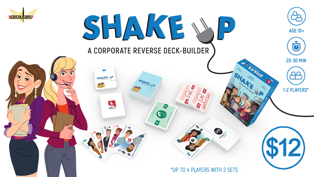 Shake Up - The Reverse Deck-building Office Card Game project video thumbnail