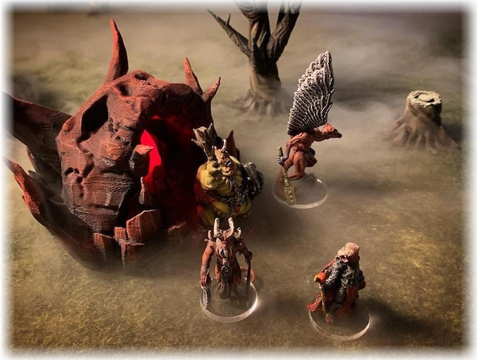 A hellmouth opens into the mist-bound plane of Limbo. You can get this model free on Thingiverse!