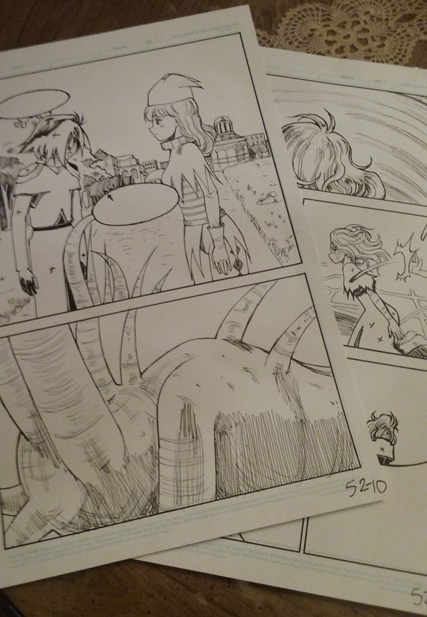 """Now you can get an original Flipside page as part of the """"Comic Appreciation"""" package!"""