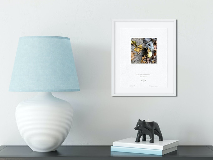 Prints fit any standard 8 x 10 in. frame. (Frame and mat board not included.)