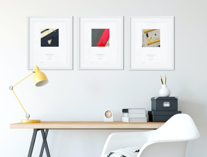 If you get nine you could alternate the prints in a single frame so your wall art always changes. Nine prints would alternate great in a set of three frames too.