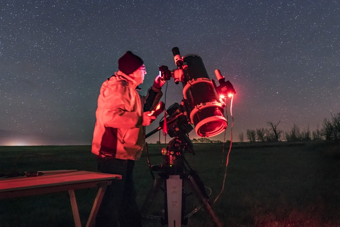 Alan Dyer shooting deep sky with the Quattro Telescope