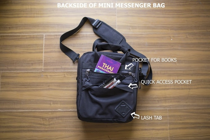 TRANSFORMER EVERYDAY BACKAPACK in Mini Messenger Configuration.