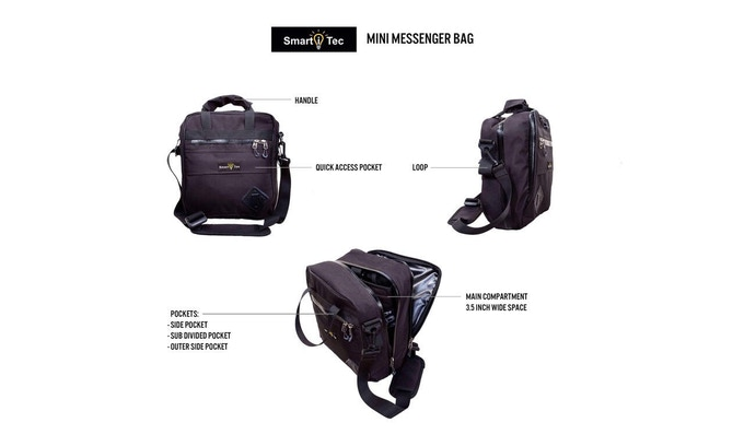 TRANSFORMER EVERYDAY BACKPACK SHOWN IN MINI MESSENGER CONFIGURATION