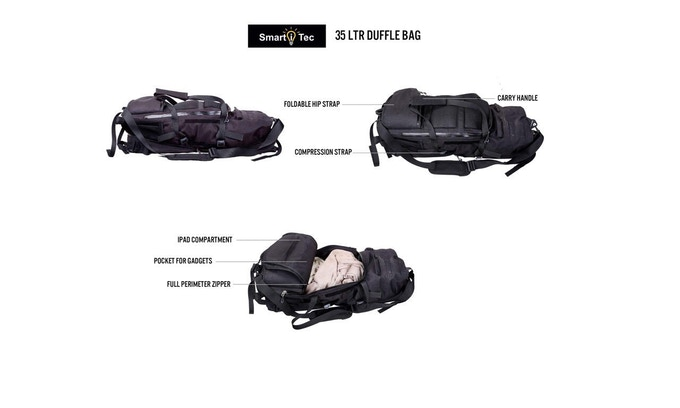 TRANSFORMER EVERYDAY BACKPACK SHOWN IN 35LTR DUFFLE CONFIGURATION