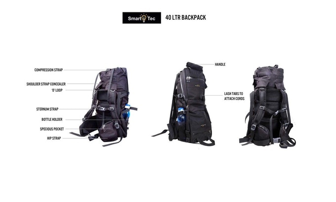 TRANSFORMER EVERYDAY BACKPACK SHOWN IN 40LTR BACKPACK CONFIGURATION