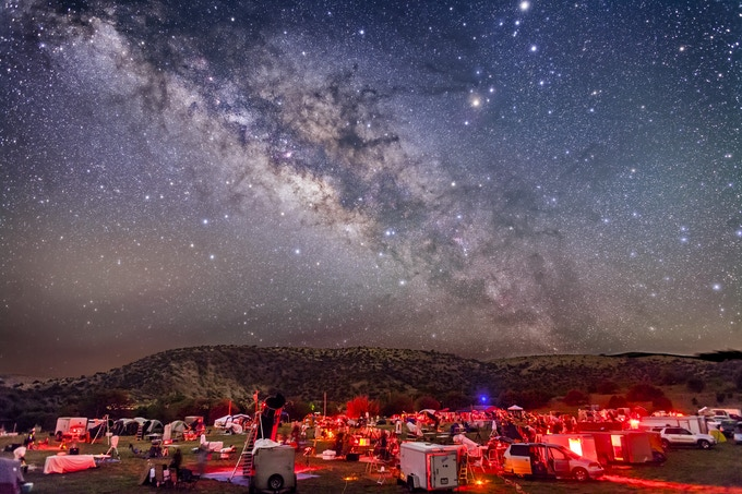 The Milky Way over the Texas Star Party, taken by Alan Dyer