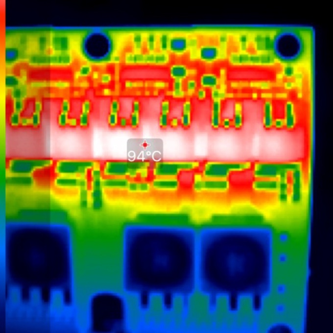 Example of thermal imaging used on the MEGAschino Channel Board