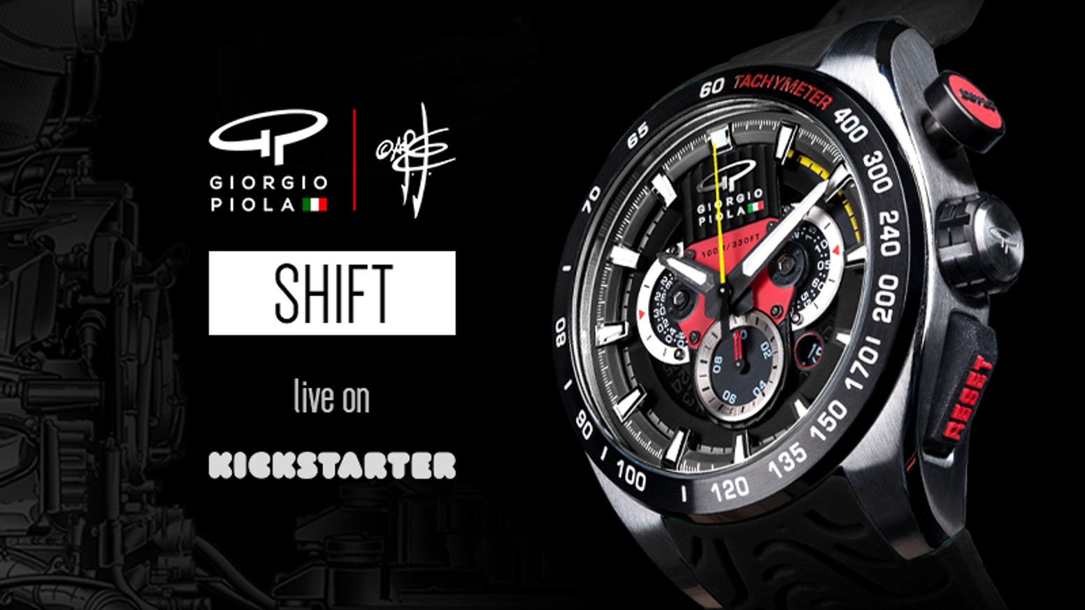 A Formula 1 inspired watch designed by tech-drawing legend Giorgio Piola