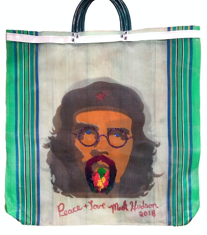 Che Guevara Mesh Tote Bag Customized and Signed by Producer Mark Hudson