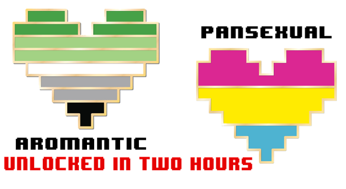 Aromantic and Pansexual Pride pins unlocked in two hours!