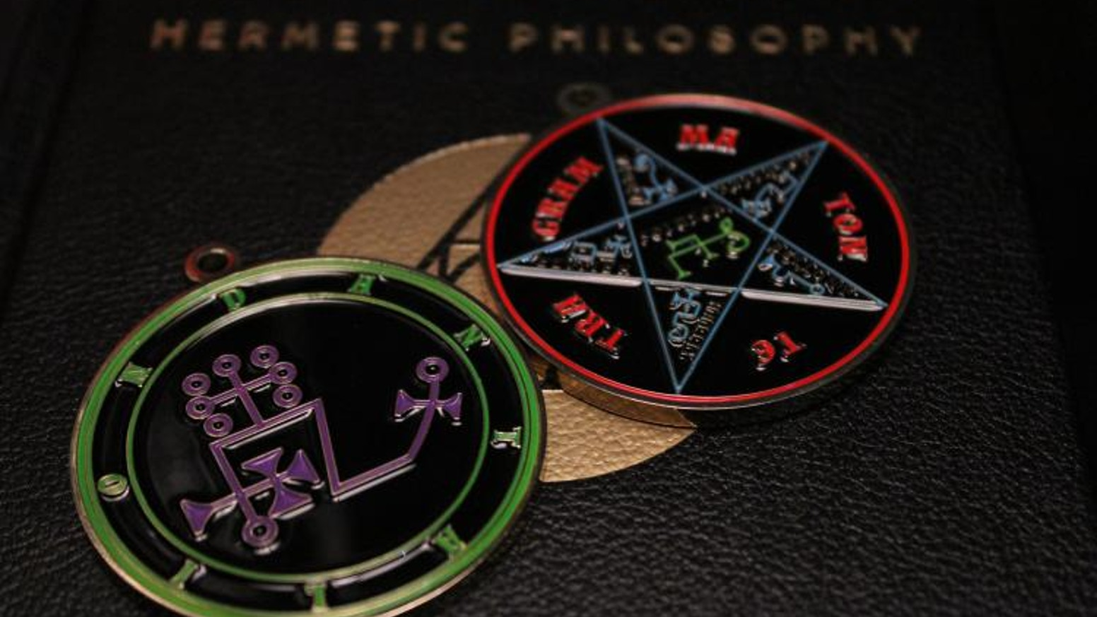 Goetic ritual medallions and floor mats, along with a custom ritual adapted for the modern occultist!