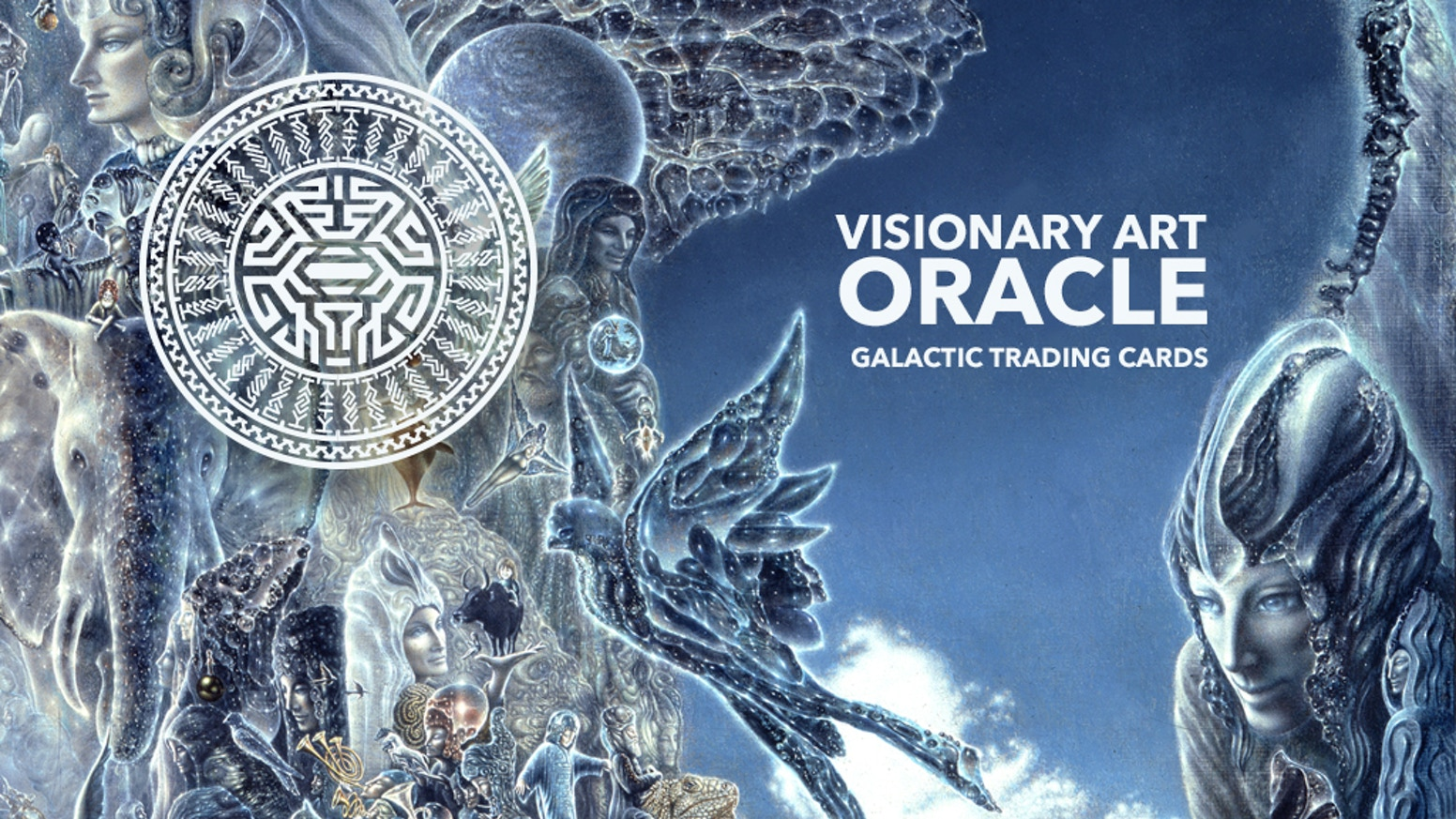 A visionary art microgallery, oracle and artist trading card deck. Missed the kickstarter? You can still pre-order a deck on our website.