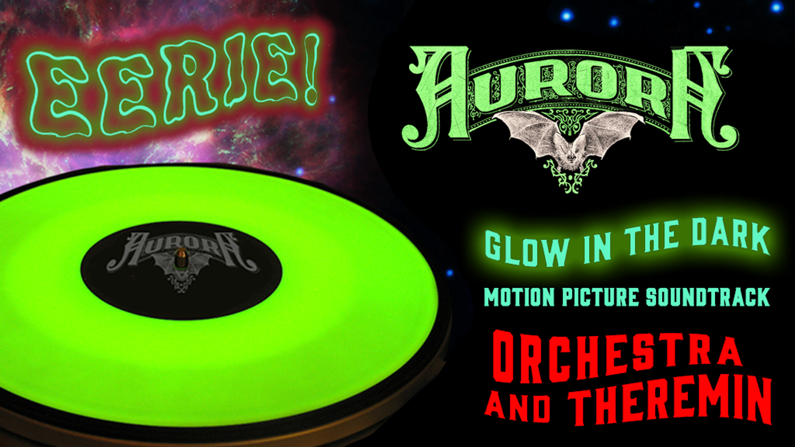 AURORA glowing Vinyl + Wax Cylinder: orchestra and theremin! by