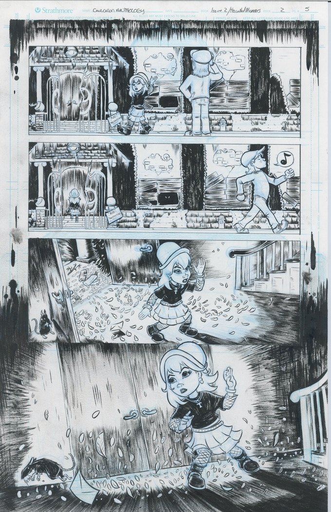 sample of original interior art by Jason Tocewicz